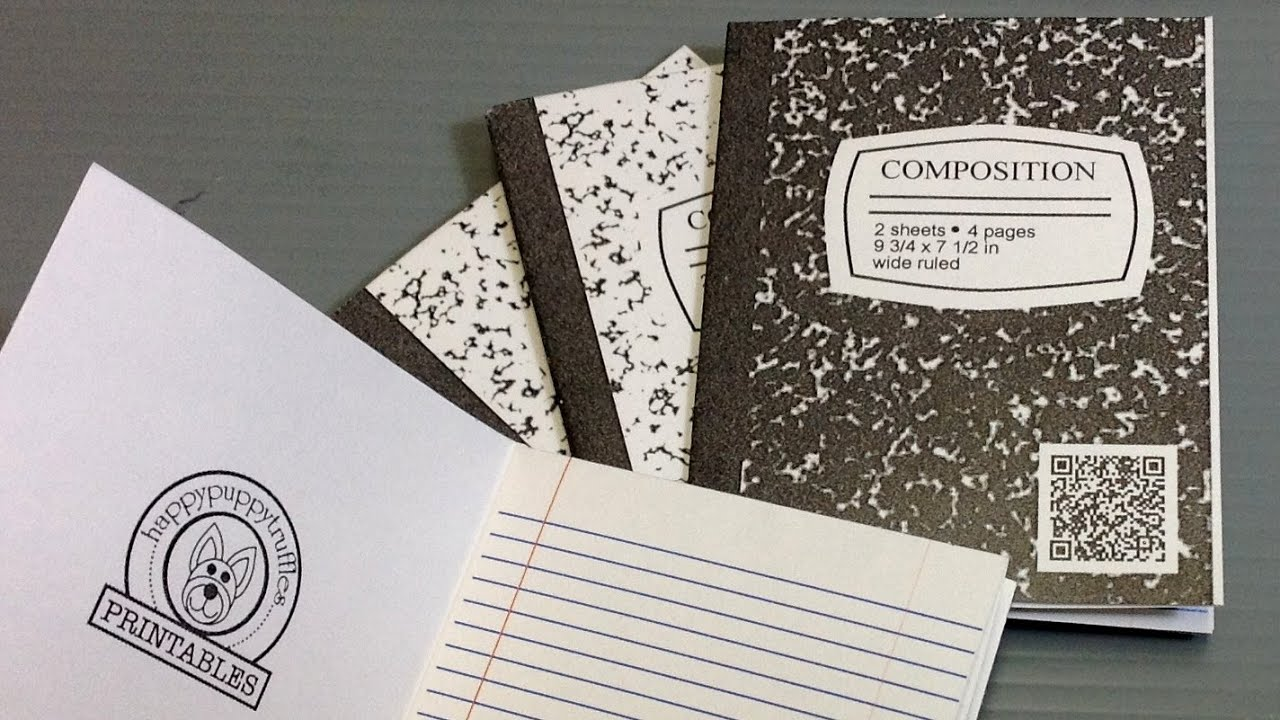 Print Your Own Origami Composition Notebook - YouTube - photo#5