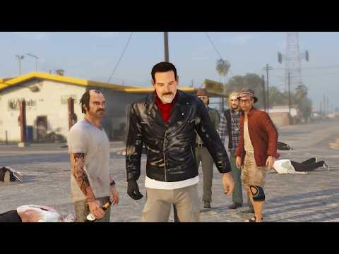 Simon VS Negan - The Walking Dead IN GTA 5
