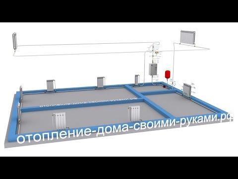 Схема отопления | 2-х этажный дом | электрокотел | радиаторы
