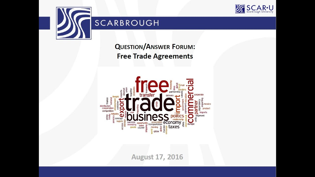 Free Trade Agreements Ftas What Are Ftas What Are The Benefits