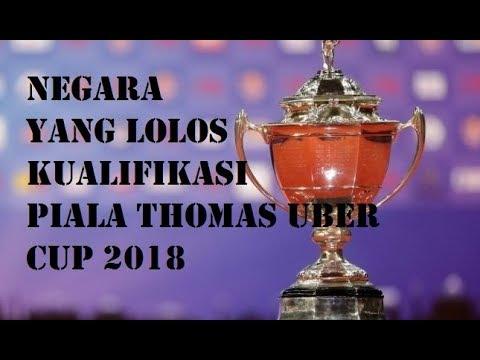 THOMAS UBER CUP 2018 (NEGARA YANG LOLOS DI KUALIFIKASI ZONA ASIA)