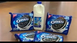 Family Pack of Oreo's and Half Gallon of Milk Eating Contest