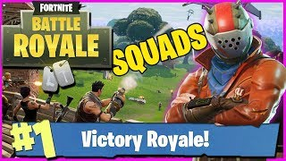 FORTNITE LIVE SQUADS | GETTING THE VICTORY FINALLY!