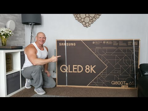 2020 Samsung Q800T 8K QLED unboxing,set up,video & audio demo!