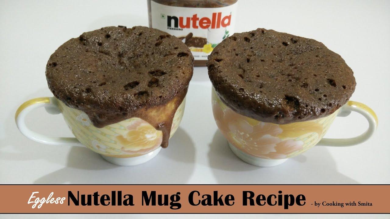 Eggless Nutella Mug Cake