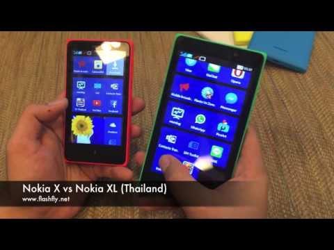 Nokia XL vs Nokia X (Thailand)