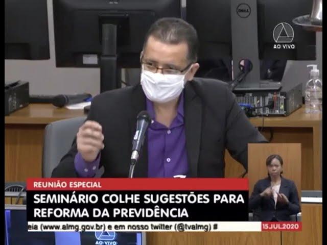 Presidente do Sinfazfisco-MG fala na ALMG sobre a Reforma da Previdência
