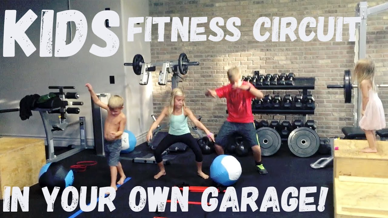 Back to school kids fitness circuit you can do in your garage