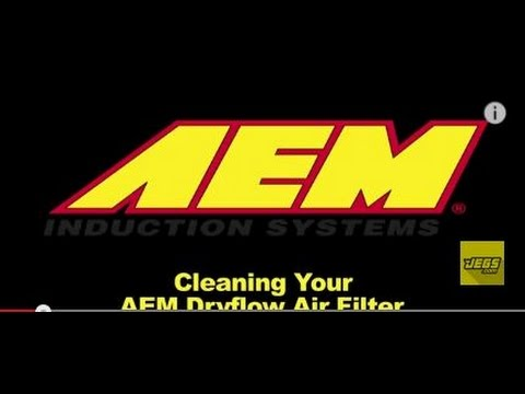 Cleaning Your AEM Dryflow Air Filter Induction Systems Dry With K&N Synthetic Air Filter Cleaner