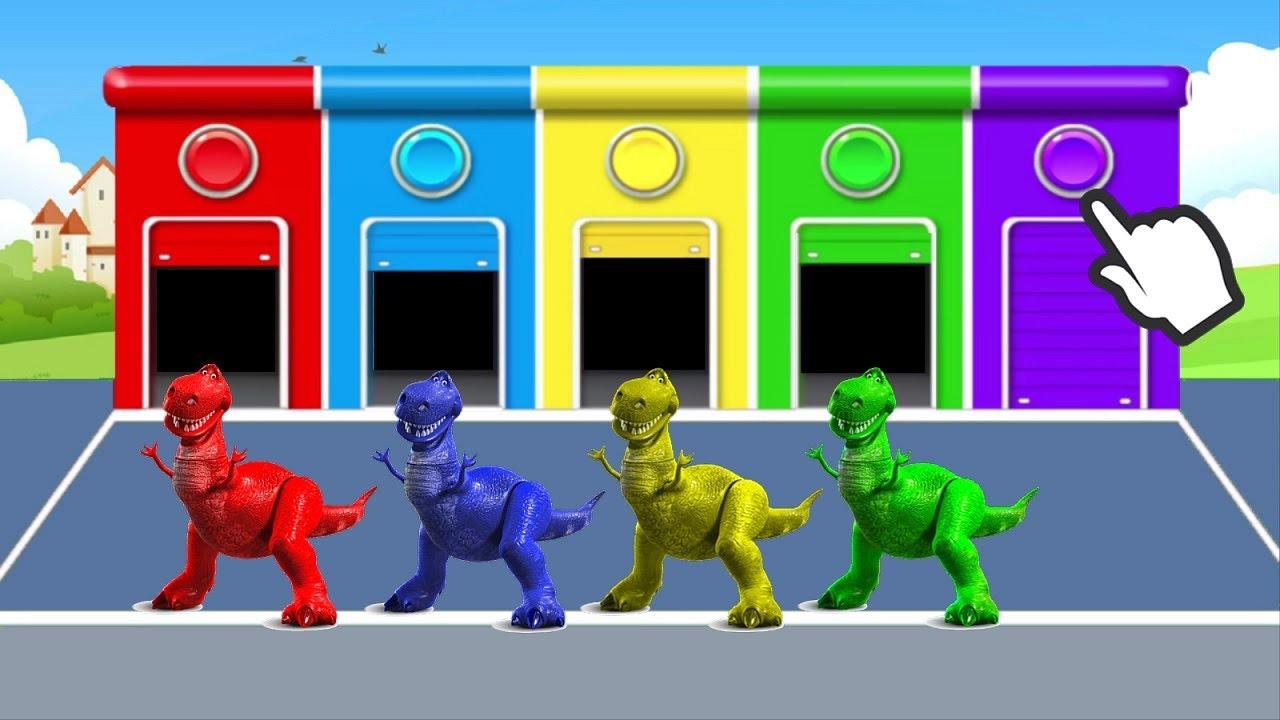 Учим цвета с динозаврами на русском языке