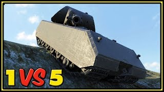 Maus - 10,5K Dmg - 1 VS 5 - World of Tanks Gameplay