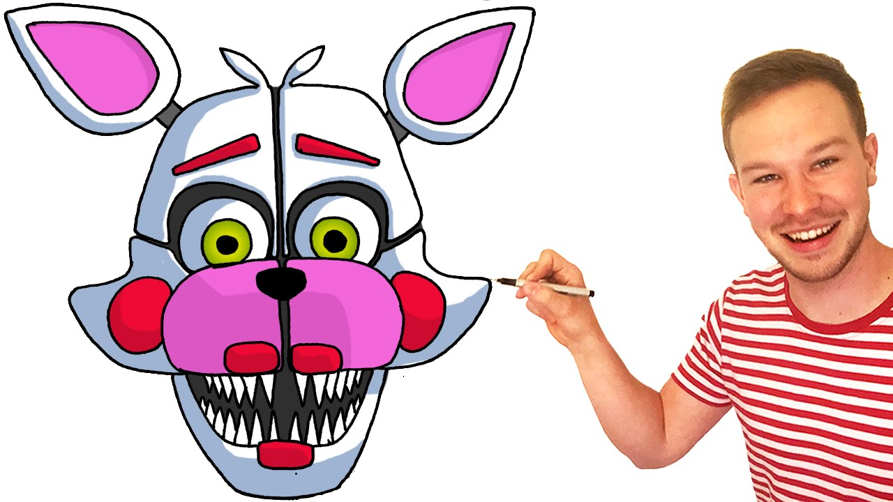 How to Draw Funtime Foxy from FNaF Sister Location - YouTube