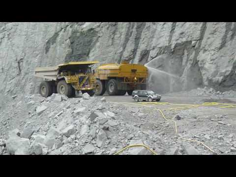 CAT 789 with MEGA 35000 watertank in the Aitik mine