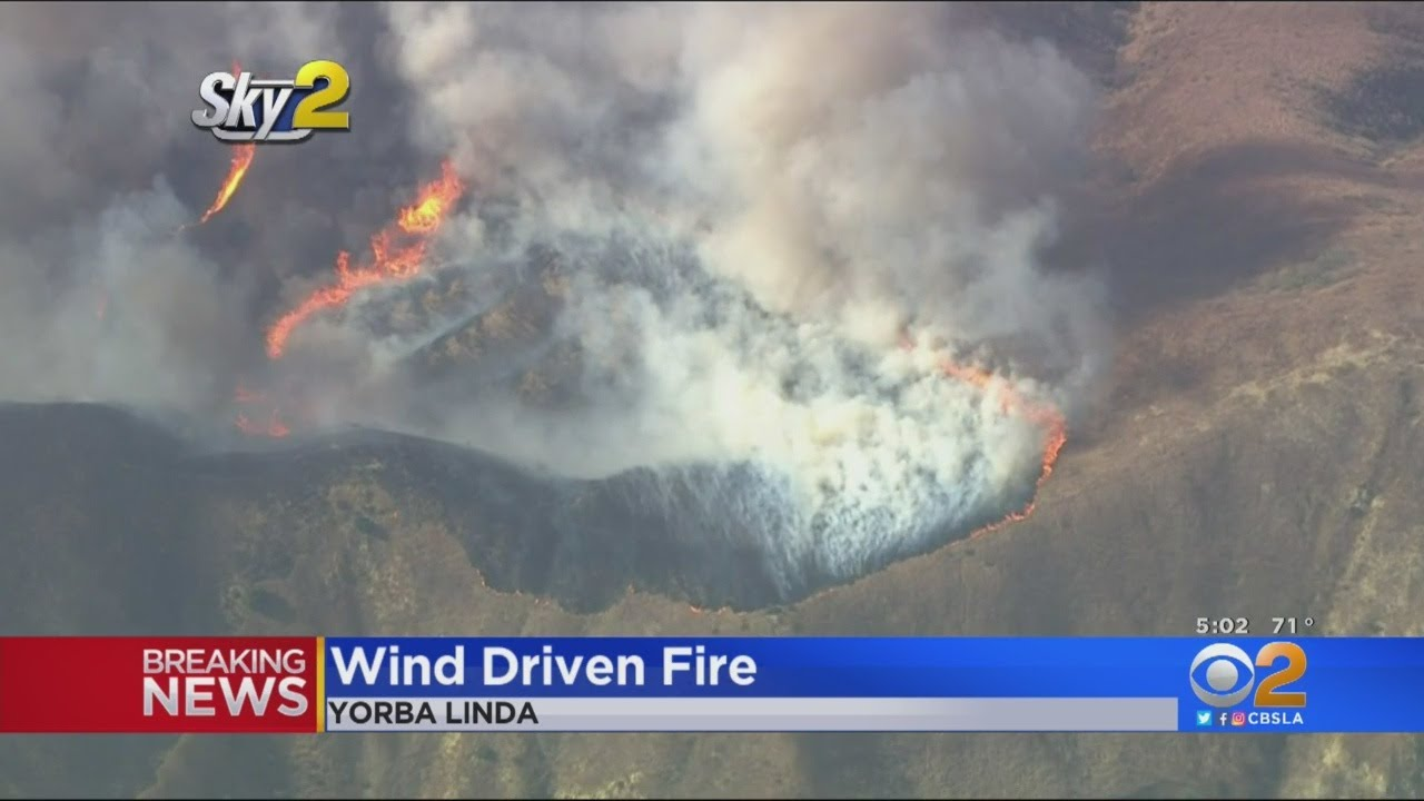 Evacuations Ordered As Blue Ridge Fire Threatens Homes In Yorba ...
