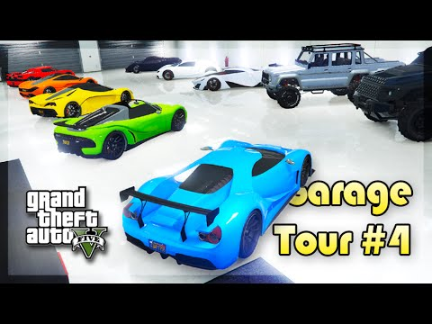 GTA 5 Online - INSANE 50 CARS GARAGE TOUR! (Garage Tour #4)