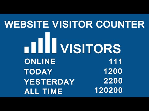 How To Add Website Visitors Counter Statistics On Your Website