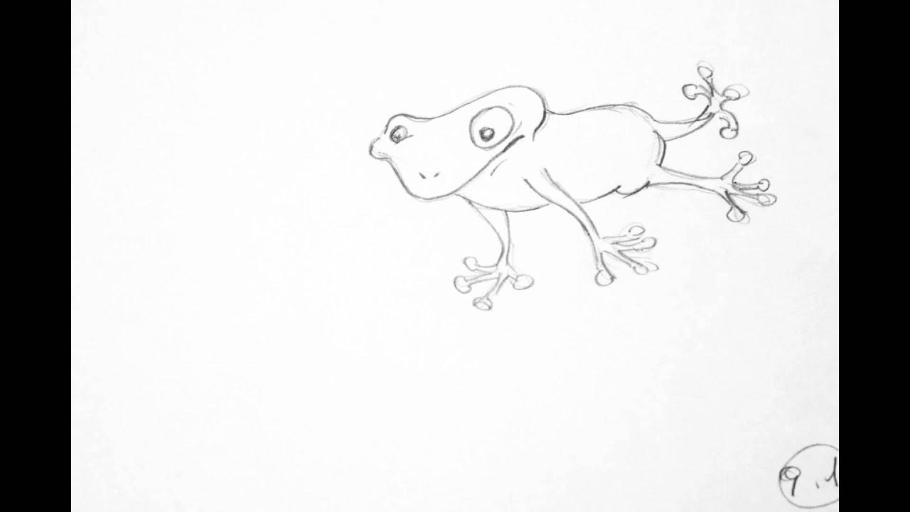 Animation Frog Jump - YouTube