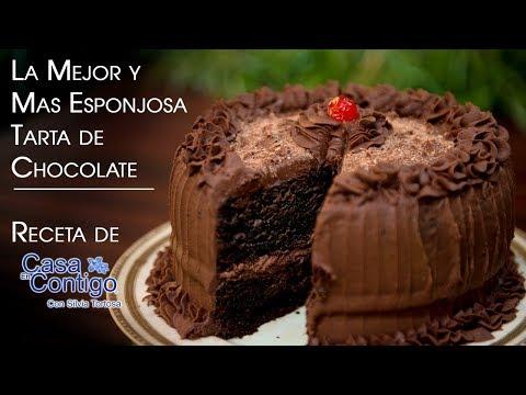La Mejor y Mas Esponjosa Tarta de Chocolate Receta En Casa Contigo