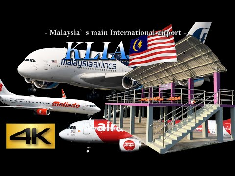 """【4K】Ultra-HD 1.5Hour!! in KLIA NEW SPOTTING POINT """"ANJUNG SPOTTER""""  2019 the Amazing Airport"""