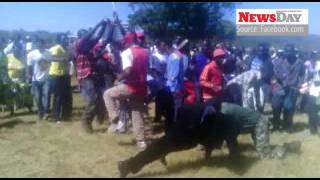 zanu pf supporters refuse to pay tollgate fees fight for food sing dance