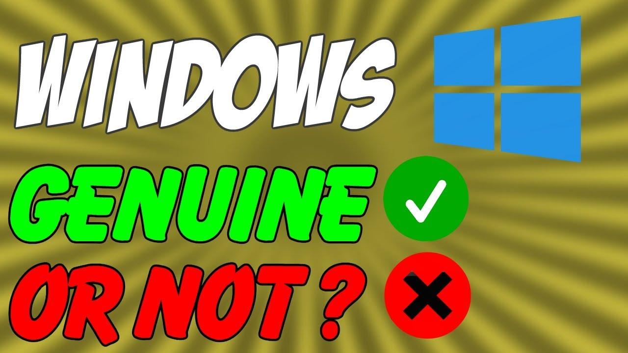 genuine windows 10 check