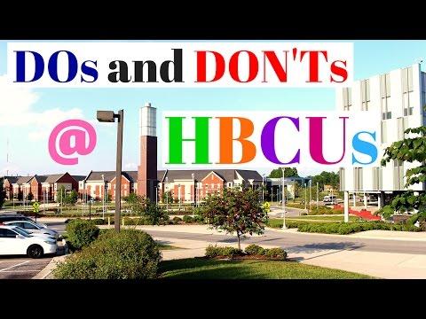 DOs and DON'Ts at HBCUs