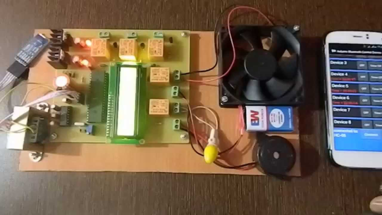 Home Appliances Controlling Using Android Mobile Via