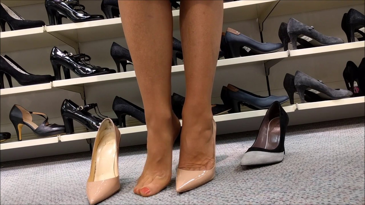 High heels shopping - YouTube