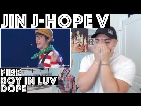 BTS Fire, Boy In Luv & Dope (Jin, J-Hope & V) LIVE 3RD MUSTER Reaction