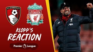 Klopp's Reaction: Lovren injury, Salah & a clean sheet | Bournemouth vs Liverpool