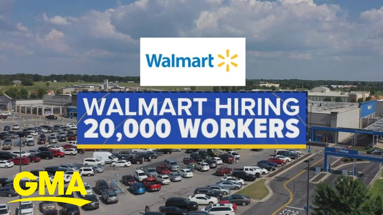 Walmart and other retailers announce seasonal hiring l GMA