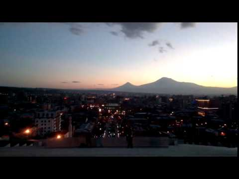 Закат в Ереване