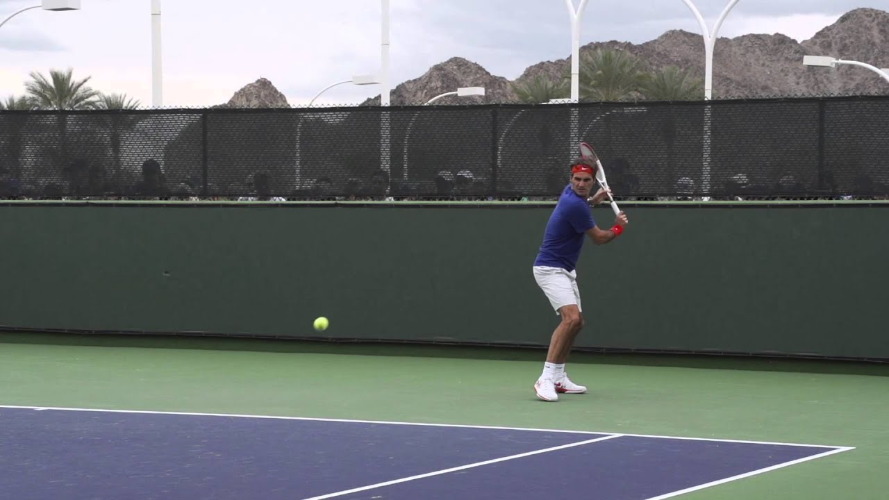 Roger Federer Backhand In Slow Motion Youtube