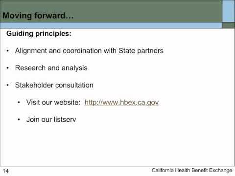 Webinar: Understanding the California Health Benefit Exchange