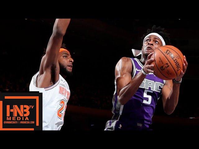 Sacramento Kings vs New York Knicks Full Game Highlights   March 9, 2018-19 NBA Season