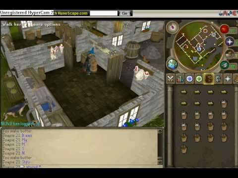 How to churn butter on runescape-money making guide-