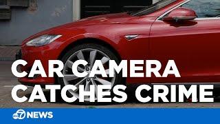 Tesla Model 3 Records Car Thief Mid Break-In