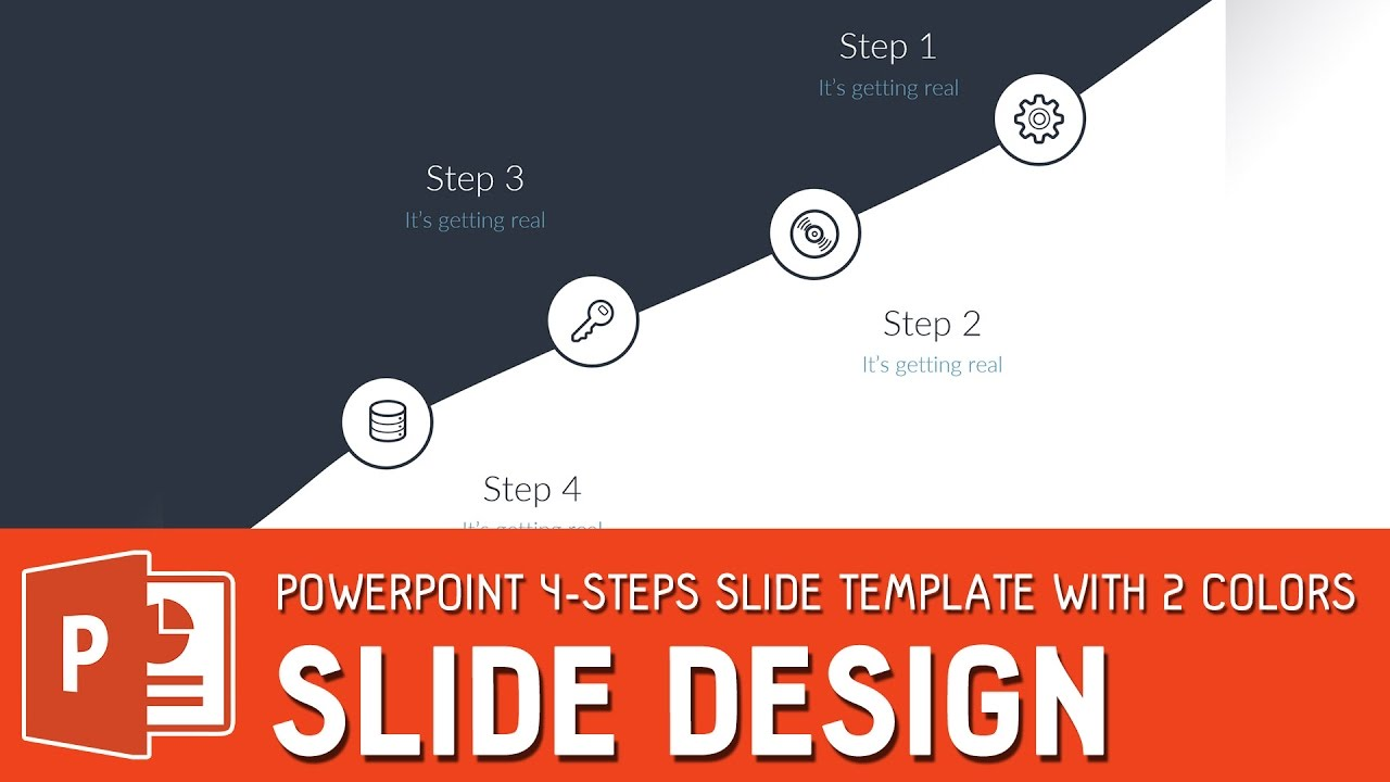 Slide Design Tutorial Powerpoint 4 Steps Slide Template With 2