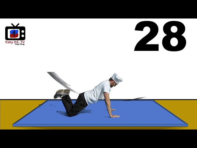 Easy PE PUSH UP FROM KNEES Test with Video Model