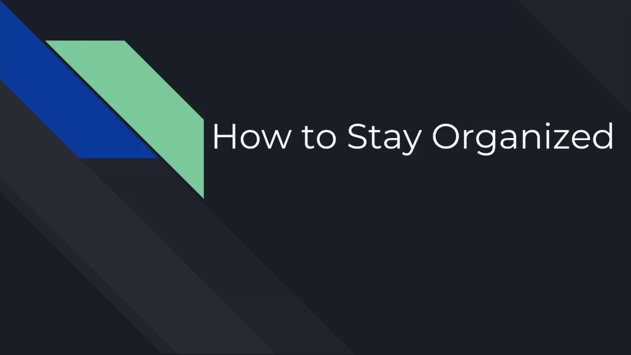 How to Stay Organized During Build Season