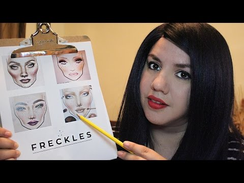 ASMR FRECKLES Application Role Play | Face touching, Whispering and Personal Attention