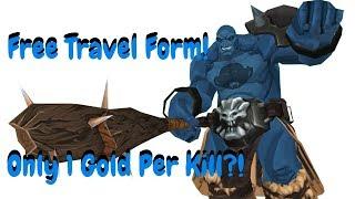 AQ3D New FREE Travel Form! Only 1 Gold Per Kill?! AdventureQuest 3D