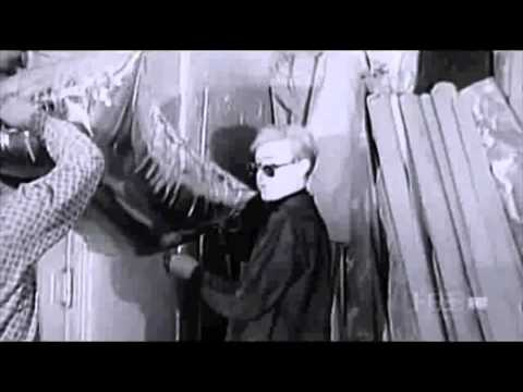 Andy Warhol releasing silver balloons (1965)