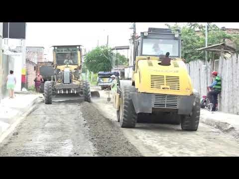 Trabajos en calle La Paz