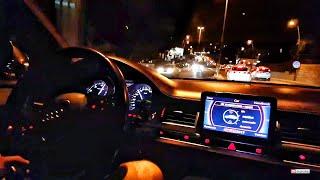 Audi S8 V10 D3 Onboard Night Ride in Budva - Accelerations..