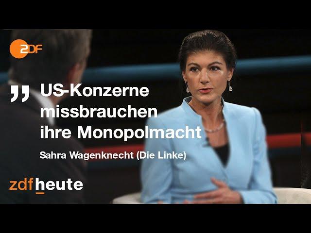 Sahra Wagenknecht und Thomas Middelhoff über Monopolmächte   Markus Lanz vom 08. Oktober 2020