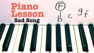 Sad Song ★ Piano Lesson ★ We the Kings  ★   Todd Downing