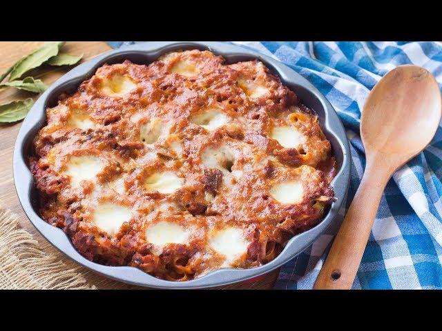 Nidi di Tagliatelle con Ragù di Funghi al  Forno | Ricetta Pasta al Forno Facile | 55Winston55