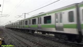 (JR東)山手線E231系4扉車公式試運転(珍しい?踏切警報音)
