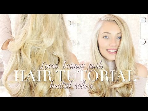 HEATED ROLLER TUTORIAL- LOOSE BOUNCY HOLLYWOOD CURLS | Freddy My Love